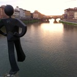 Statua dell'artista Clet chiamata uomo comune